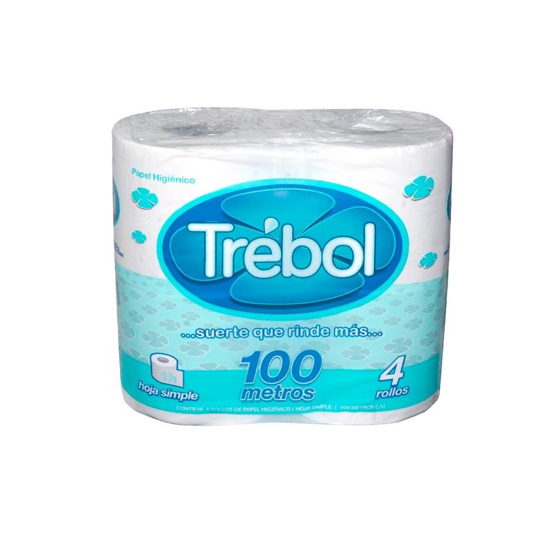 Papel Higienico Trebol           4 Rollos x 100 mts H/S