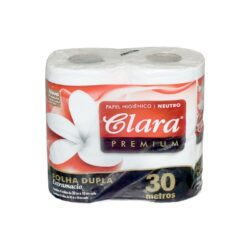 Papel Higiénico Clara                   4 Rollos x 16 Pack                   30 mts D/H