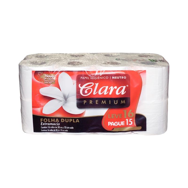 Papel Higiénico Clara                     16 Rollos x 4 30 mts D/H