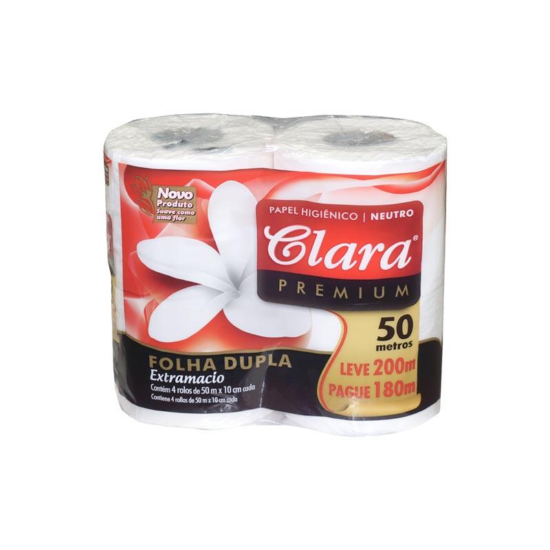 Papel Higiénico Clara                     4 Rollos x 12 50 mts D/H