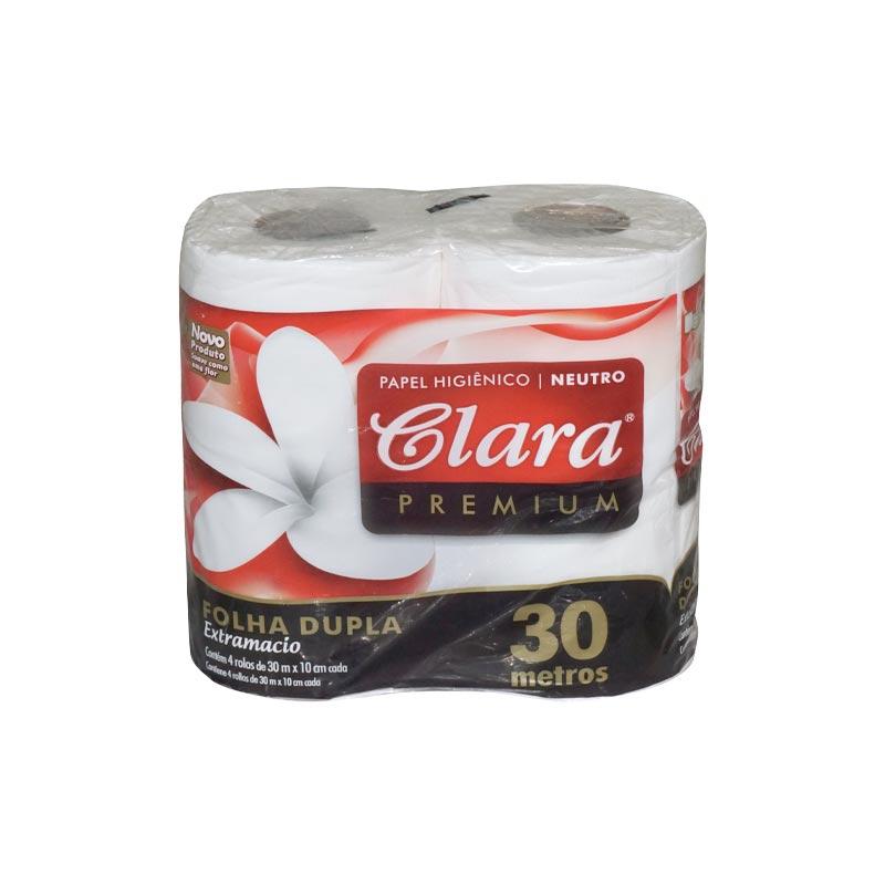 Papel Higiénico Clara                  4 Rollos x 12 Pack D/H