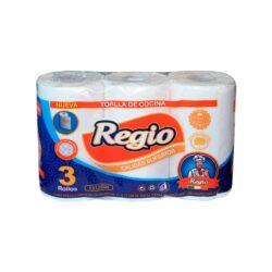 Toalla Cocina Regio             12,6 mt x 3 Rollos D/H